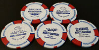 STURGIS 76th MOTORCYCLE RALLY HARLEY DAVIDSON POKER CHIPS - COMPLETE SET