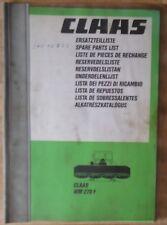 Claas WM 270 F Ersatzteilliste