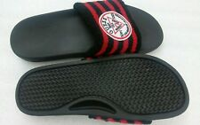 GUESS Men Slide Sandal. Men's Size 11, Black And Red