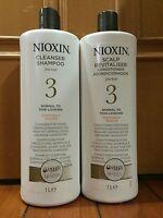 Nioxin System 3 Shampoo and Conditioner 1000ml / 33.8oz set