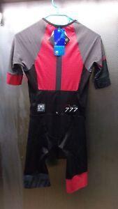 Santini Sleek Plus 777 Herren Rot/SchwarzFahrrad Trikot Triathlon RechnungV00295