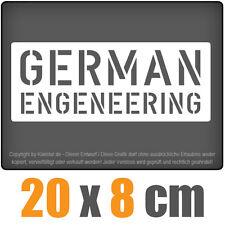 Allemand ENGENEERING csf0250 20 x 8 cm JDM sticker blanc autocollant pour vitres