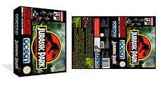 Jurassic Park - Snes Ersatz Spiel Packung mit Box Kunstbeilage (Spiel Hülle)