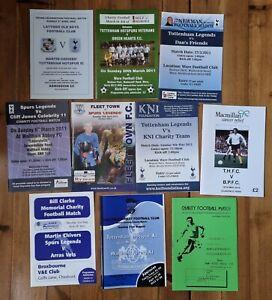 Tottenham/Spurs Legends charity match programmes 2000's x 10