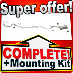 Silencer Exhaust System for NISSAN NOTE I 1.4 since 04.2009 + Pipe