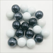Wholesale 10/30pcs 16mm White Black Glass Beads Marbles Kid Toy Fish Tank Decor