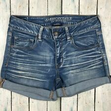 American Eagle Outfitters Vintage Wash Denim Cuffed Stretch Shorts  - Size 12