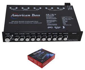 7 Band Digital Equalizer w/ Built-in 7V Line Driver + Digital Voltmeter AB 7BV