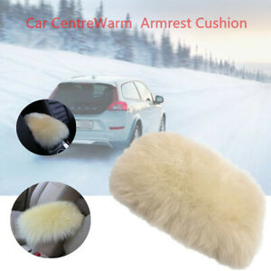 Universal Car SUV RV Pickup Armrest Cover Box Armrest Pillow Plush Cushion Warm