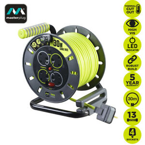 Masterplug 30M 13A Pro-XT Four 4 Gang Socket OpenCable Reel Extension Lead Cable