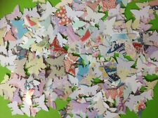 100 SMALL PAPER BUTTERFLY FEMALE CARD MAKING SCRAPBOOKING CRAFT EMBELLISHMENTS