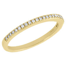 Ladies Right Hand Cocktail Ring 1/8 Ct. 10K Yellow Gold Diamond Slender 1 Row