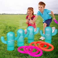 Inflatable Cactus Ring Toss Game Hoops Play Fun Pool Beach Summer Game Family OZ