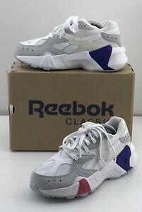 Reebok Aztrek Double 93 (DV5737) White Grey Red Blue Unisex Kids SZ US 4.5 NIB