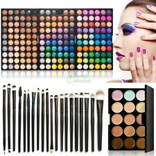 180 Colors Eyeshadow Makeup Palette Cosmetic Contouring Concealer 20Pcs Brushes