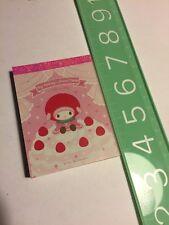 Rare Sanrio Original My Melody 2008 Stationery Notepad Note Pad Kawaii Paper