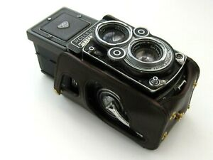 Genuine Leather Half Case for Rolleiflex 2.8F or 3.5F - Black or Brown/Red