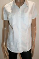 NOW Brand White Short Sleeve Button Up Collared Blouse Top Size 18 BNWT #SS01