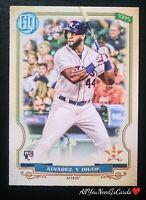 Yordan Alvarez Rookie Card 2020 Topps Gypsy Queen RC#137 Houston Astros Baseball