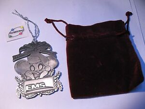 EMS Branded Christmas Tree Ornament 1999 Metal Solid SPAR MDA Corporate Used