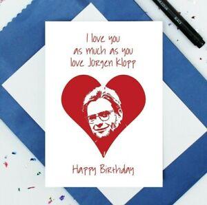 Jurgen Klopp birthday card card - Liverpool card - LFC birthday card - football