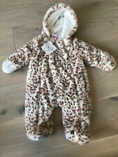 Baby Girl All In One Piece Pram Suit Nula Bug Faux Fur 6-9 Months New