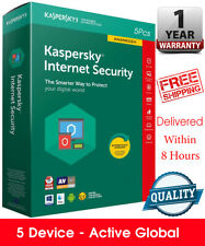 Kaspersky INTERNET Security 5PC / 5 Device/ 1 year / Global Key /Download 18.25$