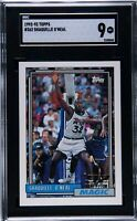 💥1992 Topps #362 Shaquille O'Neal HOF ROOKIE RC🏀 SGC 9 MINT PLUS📈