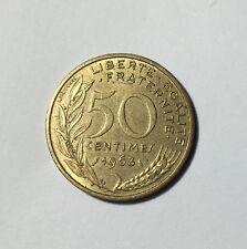 50 centimes LAGRIFFOUL 1963 col 4 plis Num13