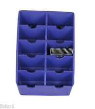 Trimmer Clipper THE BLADE RACK  BLADE STORAGE,HOLDS 10-BLADES ( PURPLE )