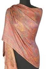 Rose & Violet Silk Indian Shawl Reversible Jamavar Shawl Jamawar Stole Pashmina