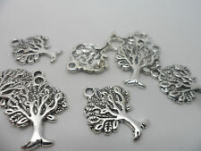50 x Antique Silver~Tree Of Life Charms.22x17x2mm,Lead & Cadmium Free