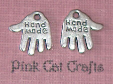 20 x Tibetan Silver Hand Made HAND TAG Charms Pendants Beads