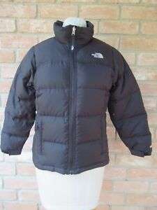 USED The North Face TNF NUPTSE 600 Down Puffy Jacket; Size GIRLS' Large