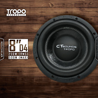 "CT Sounds Tropo 8"" D4 250 Watt RMS Subwoofer 8 In Dual 4 Ohm Car Audio Bass Sub"