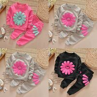 Kids Girls Clothes Long Sleeve Tops Sweater + Pants 2pcs Baby Outfits Sets 1-5 Y