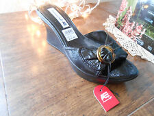 American Eagle Women's Shoes, Slides, Wedges, Black, open toe, Sz. 8, with tags