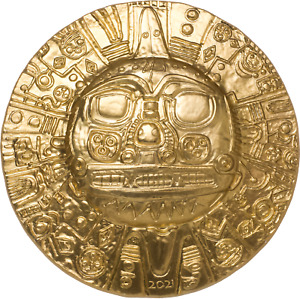 2021 Palau Inca Sun God Disc 1 oz .999 Silver Coin - 2,021 Made