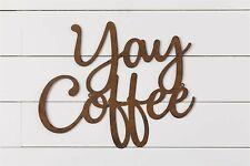 Large Coffee Wall Sign in Rustic Tin