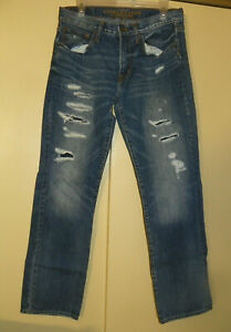 Men's 31 x 34 American Eagle Outfitters Original Straight Distressed Look Jeans