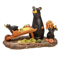 Big Sky Carvers Bearfoots Bears Harvest Figurine Fall