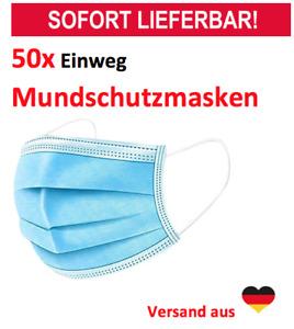 100 x Medizinische Einweg Schutzmaske Mundschutz OP-Maske 3-lagig Atemschutz