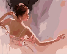 Painting by Number kit Lady With Dress Beauty Dancer Self-appreiation DIY JC7400
