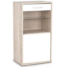 MUR/SOL stockage Armoire avec porte vitrée et étagère - Chêne / blanc ip79933ak