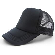 Hot Plain Baseball Cap Solid Trucker Mesh Blank Curved Visor Hat Adjustable Hot