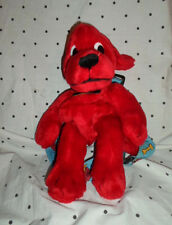 "Clifford Big Red Dog Zippered Backpack 14"" Plush Soft Toy Stuffed Animal"