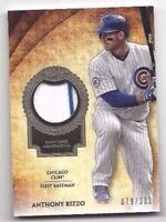 2017 Topps Tier One jersey baseball card Anthony Rizzo Chicago Cubs #79/331