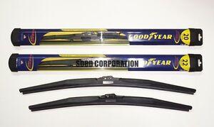 1995-1998 Mazda MPV Goodyear Hybrid Style Wiper Blade Set of 2