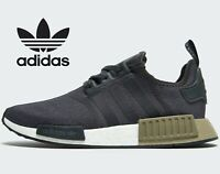 ⚫ 2019 Genuine Adidas Originals NMD R1 ® ( Men UK Size: 6 - 12 ) Black / Olive