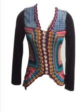 NWOT Double Zero Crochet Patchwork Cardigan Sweater Sz Small Boho Festival